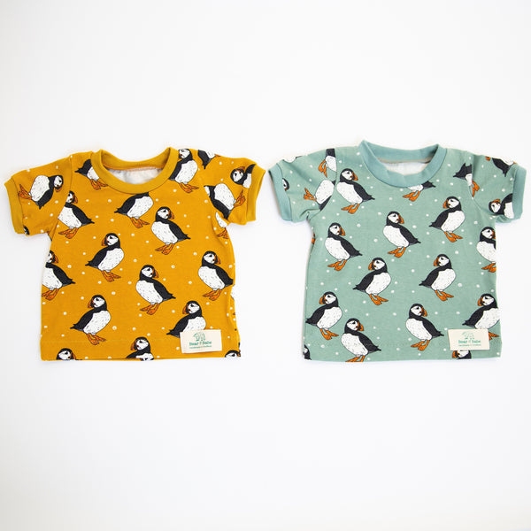 Puffins Baby and Children's T-shirt