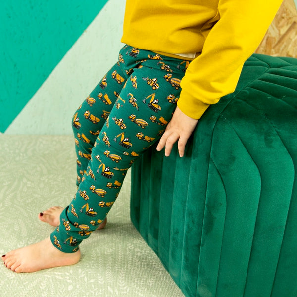 Diggers Baby and Children's Leggings (Ready to Ship)