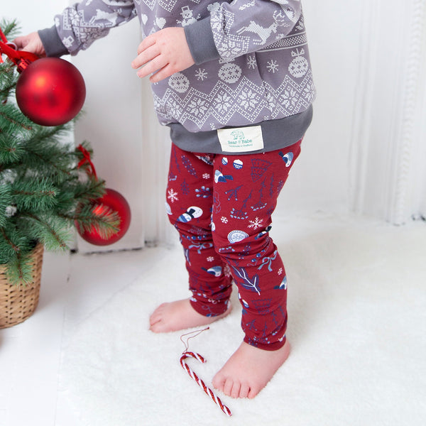 Christmas Wonderland Baby and Children's Leggings (Ready to Ship)