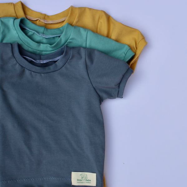 Aqua, Gold, Steel Blue Set of 3 Baby and Children's T-shirts
