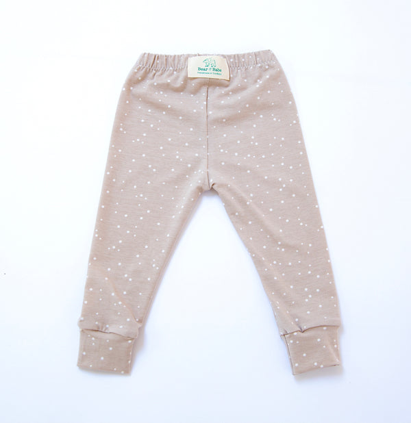 Cappuccino Dots Baby and Children's Leggings