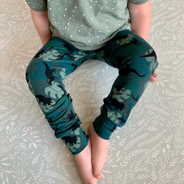 Leafy Dinos Baby and Children's Leggings