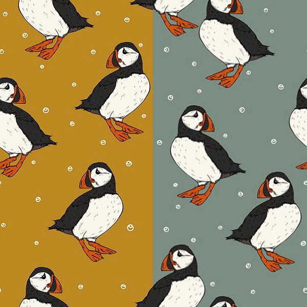 Puffins Baby and Children's Long Sleeved Tee