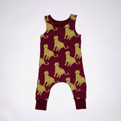 Burgundy Leopards Baby and Children's Romper