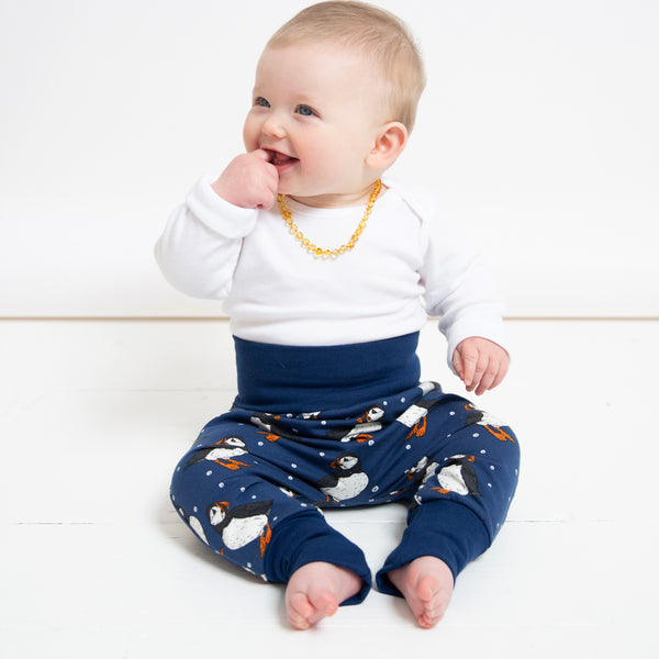 Navy Puffins Baby and Children's Harem Pants