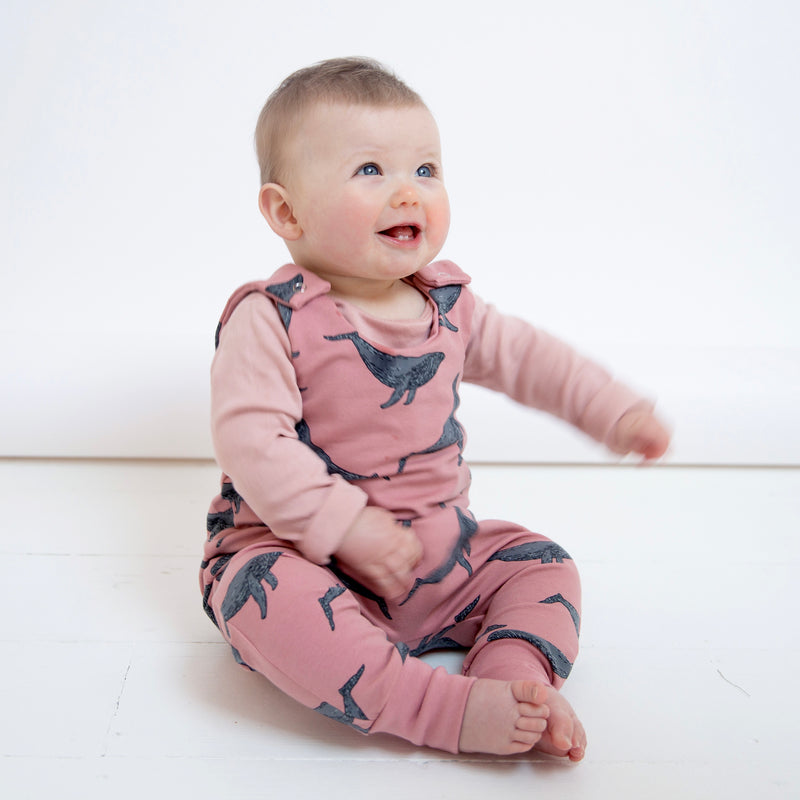 Rose Whales Baby and Children's Romper