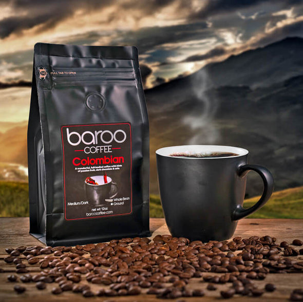 BAROO COLOMBIAN COFFEE - Baroo Coffee Fresh Roasted On-Demand Whole Bean or Ground Columbian Coffee Bags Order Bag