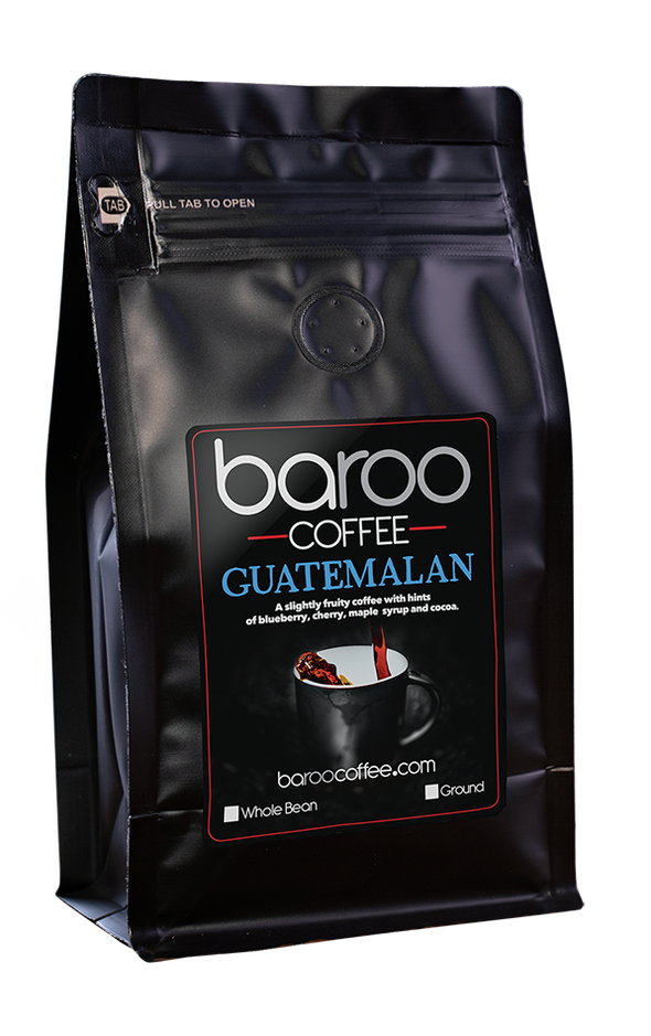 GUATEMALAN ORGANIC COFFEE - Baroo Coffee Fresh Roasted On-Demand Whole Bean or Ground Columbian Coffee Bags Order Bag
