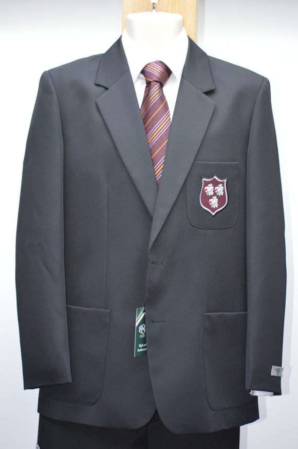 1880 Club Boys Black Badged Blazer - Saintfield High School