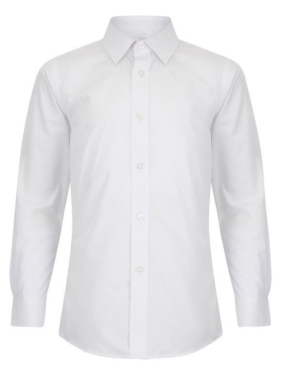 Slim/Tapered Fit  White Shirt  (TWIN PACK)
