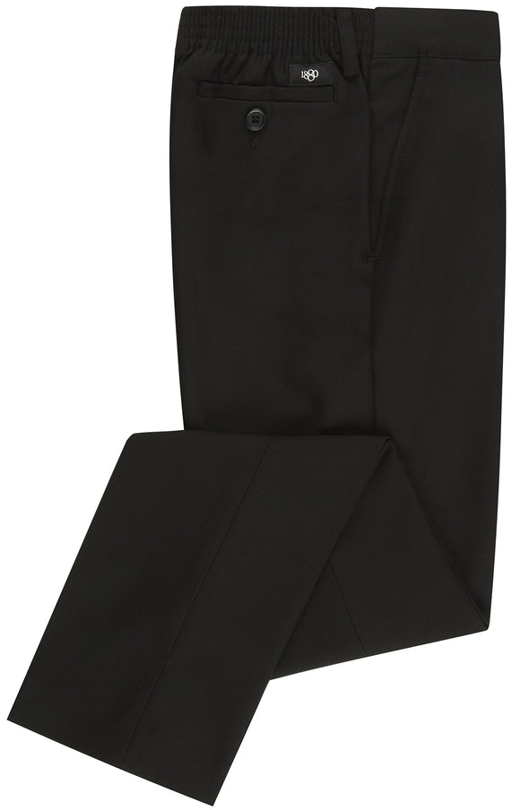 1880 Club Elastic Waist Black Trousers (AGES 8/9 TO 12/13)