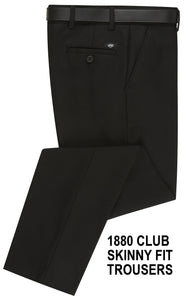 1880 CLUB SKINNY FIT BLACK  TROUSER