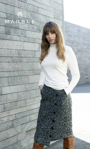 5953/104/BLACK GREY SKIRT