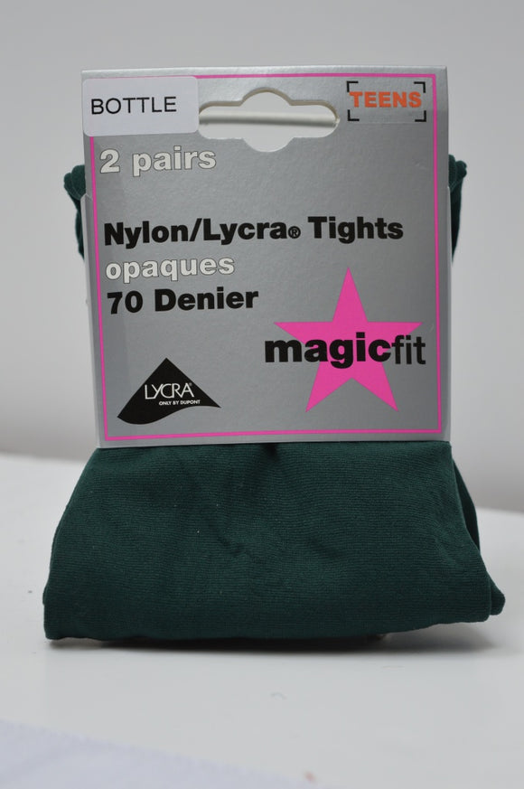 BOTTLE GREEN TIGHTS 70 DENIER