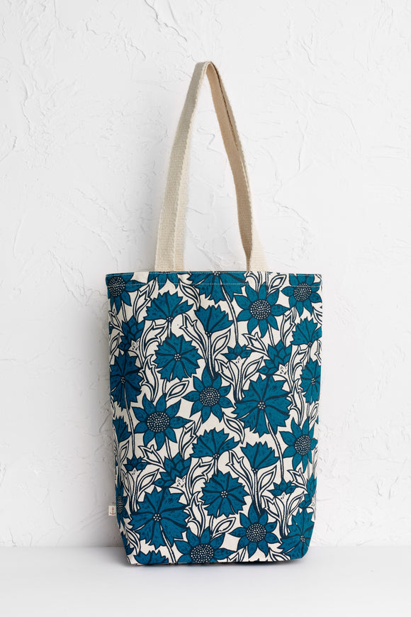 Canvas Shopper Sketched Motifs Marine