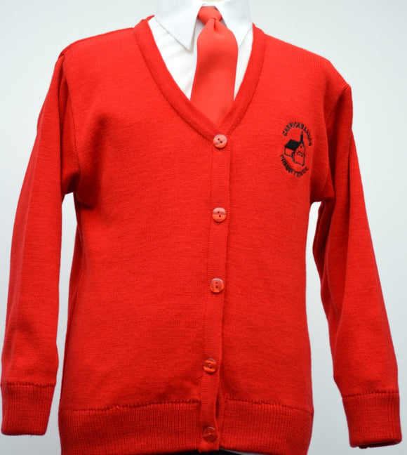 Carrickmannon Red Cardigan
