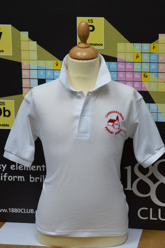 Carrickmannon White Polo Shirt