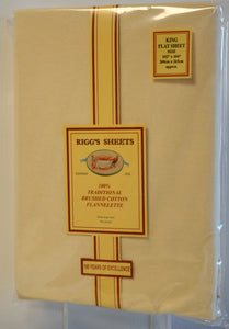Cream Sheets/Pillow Cases Rigg's Flannelette Sheets