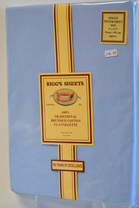 Blue Sheets/Pillow Cases Rigg's Flannelette Sheets
