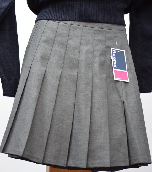 Trutex Grey  Senior Pleated Skirt