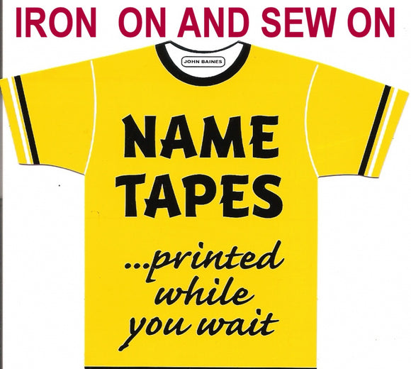 Sew on/Iron on Name Labels