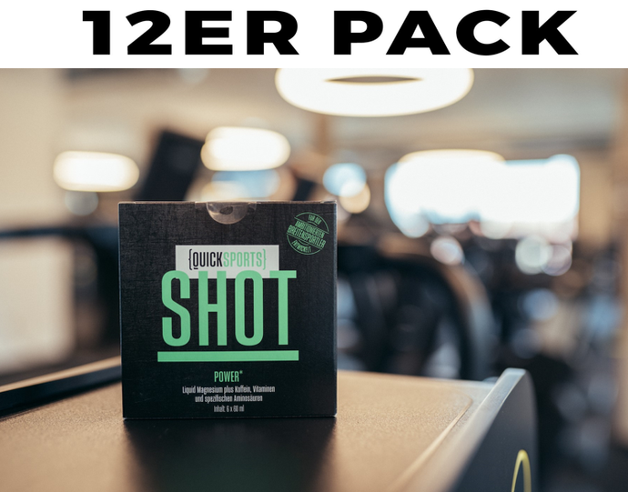 12er-Paket QUICK-SPORTS Shot - Power (Gute-Vorsätze-Paket)