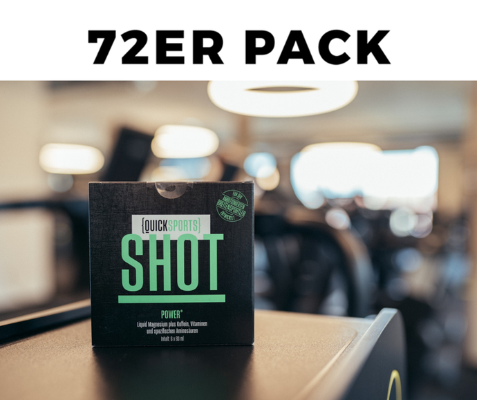 Big Pack QUICK-SPORTS Shot - Power für Intensivnutzer – (12x 6er-Pakete)