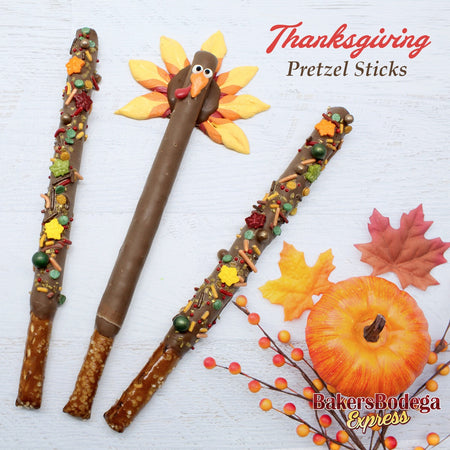 Thanksgiving Pretzel Sticks