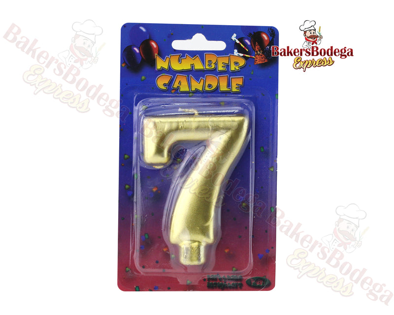 Gold Number Party Candles