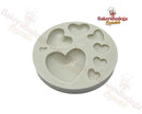 Silicone Mold Assorted Hearts