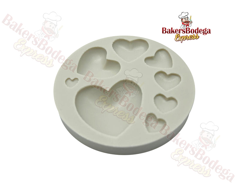 Hearts Assorted Size Silicone Mold