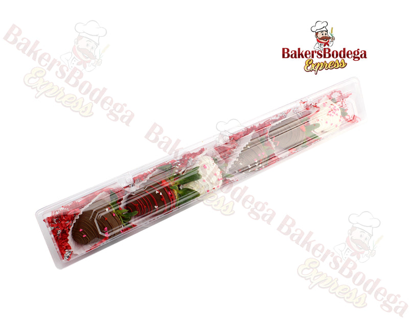 Strawberry/Floral Long Plastic Containers