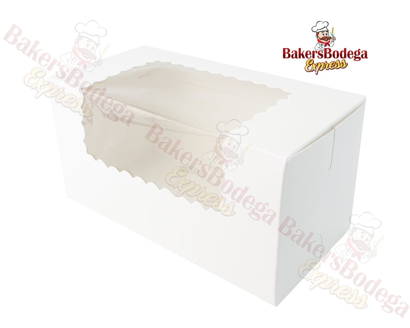 White Cupcake Boxes with Window