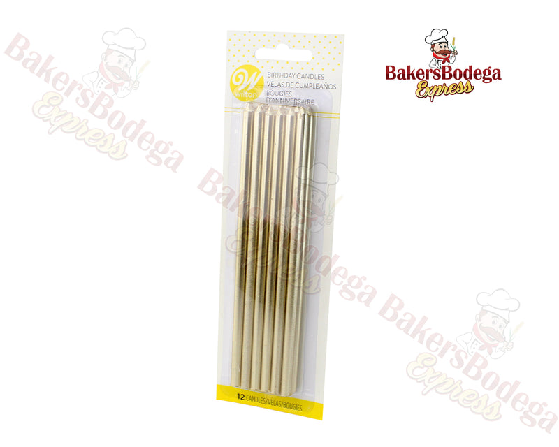 Wilton Birthday Candles-Tall Gold