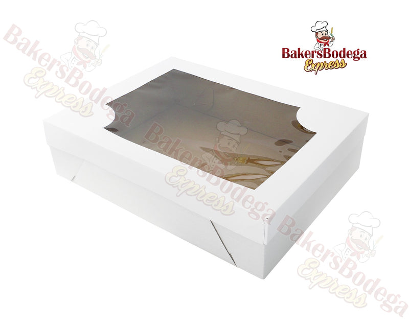 White Sheet Cake Box Base/Lid