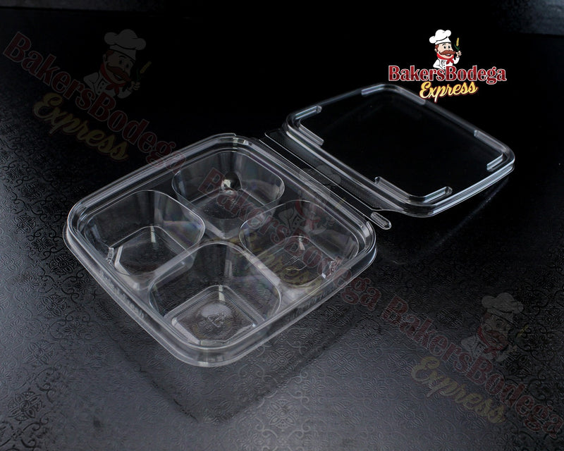 Clear Container 4 Cavity/8 oz