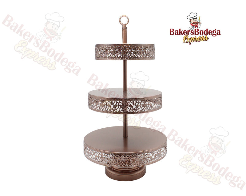3-Tier Reversible Dessert Stand (Rose Gold)