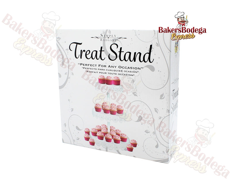 3-Tier White Treat Stand