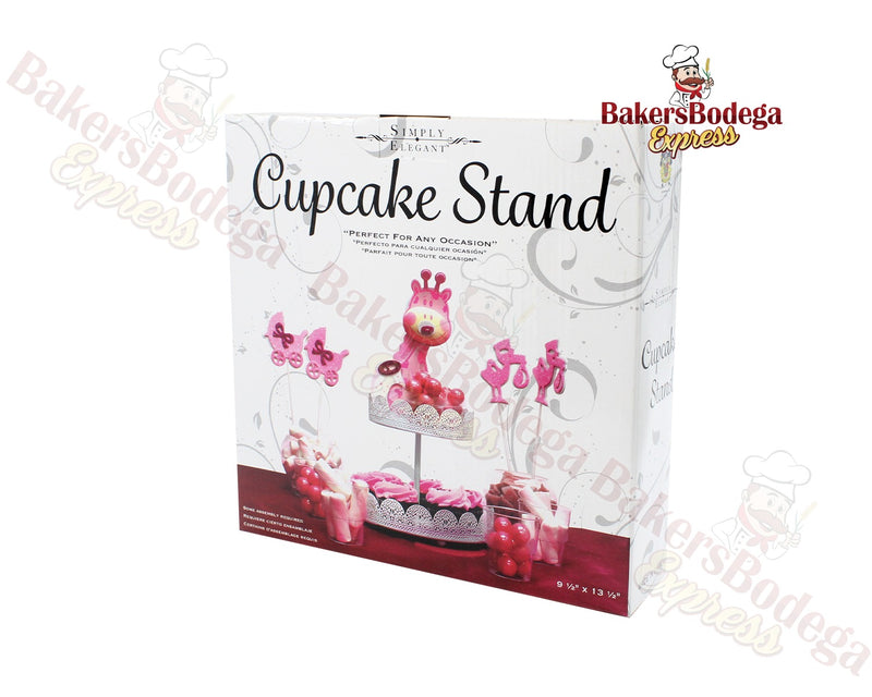 2-Tier White Treat Stand