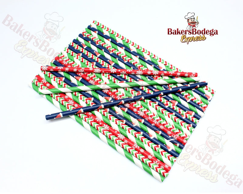 Paper Party Straws (Holiday)