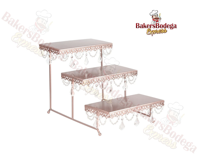 3-Tier Dessert Stand (Rose Gold)