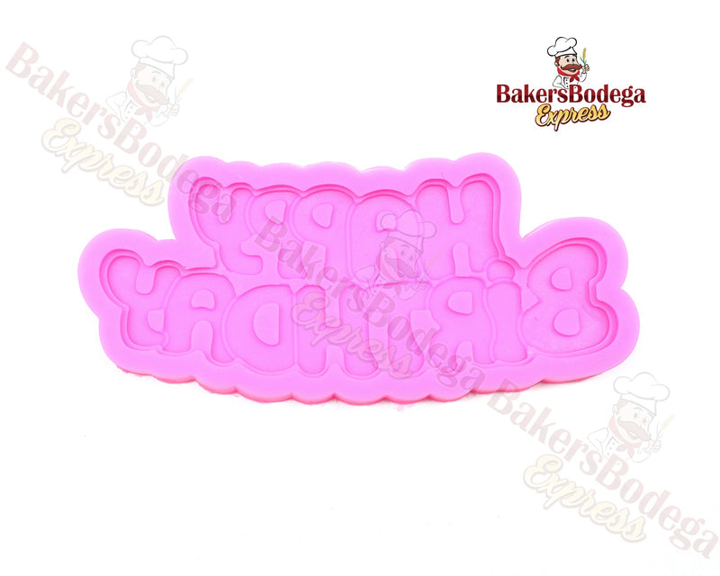 Happy Birthday Silicone Mold