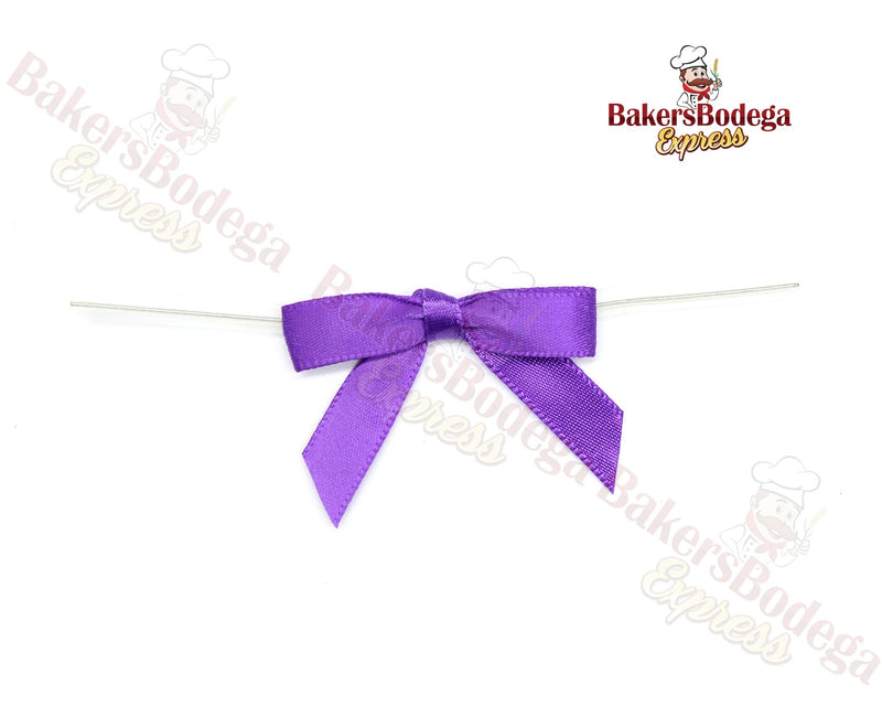 Purple Bow Twist Ties
