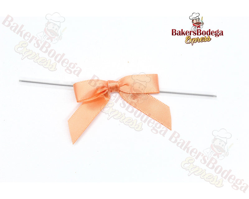 Peach Bow Twists Ties