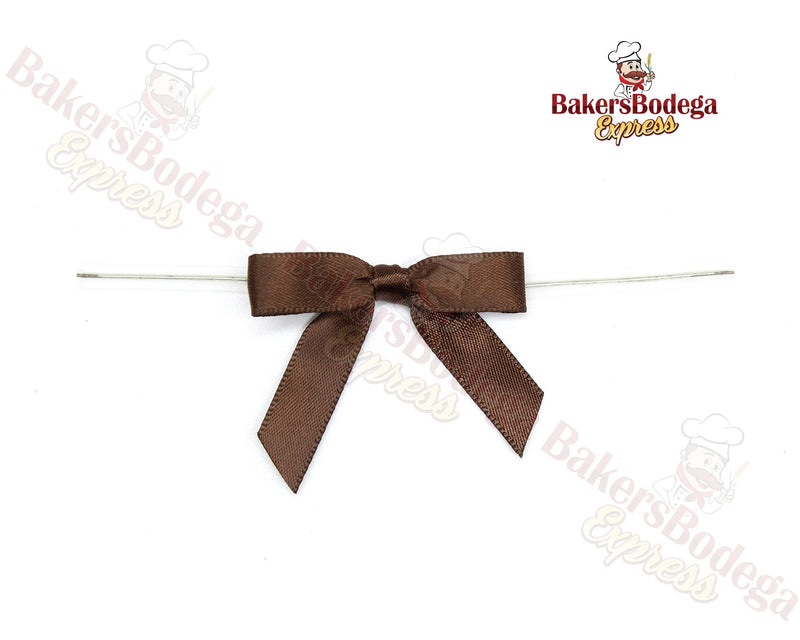 Brown Bow Twist Ties