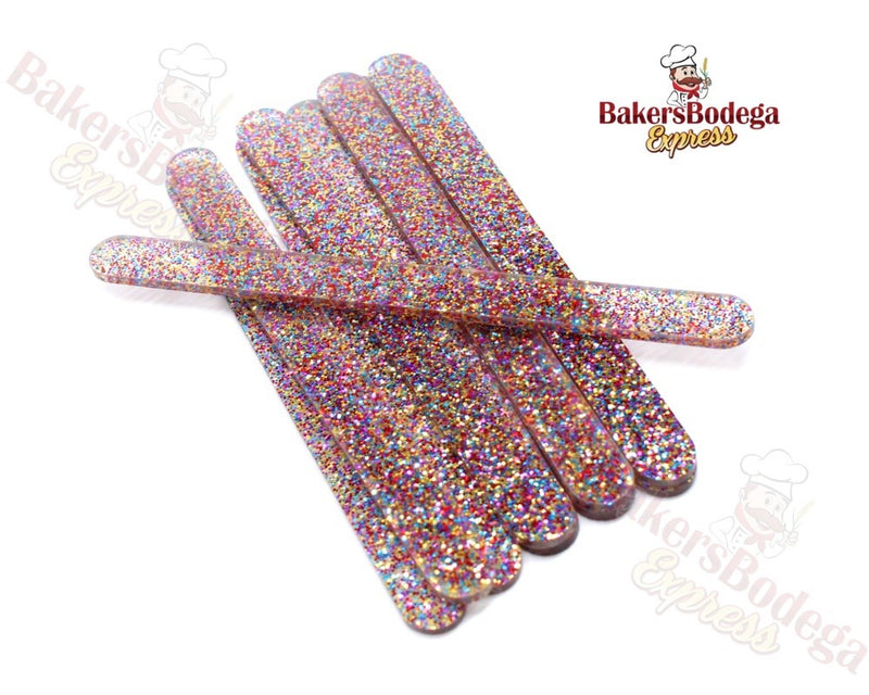 Glitter Acrylic Popsicle Sticks