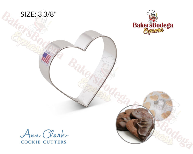 "Heart 3 3/8"" Cookie Cutter"