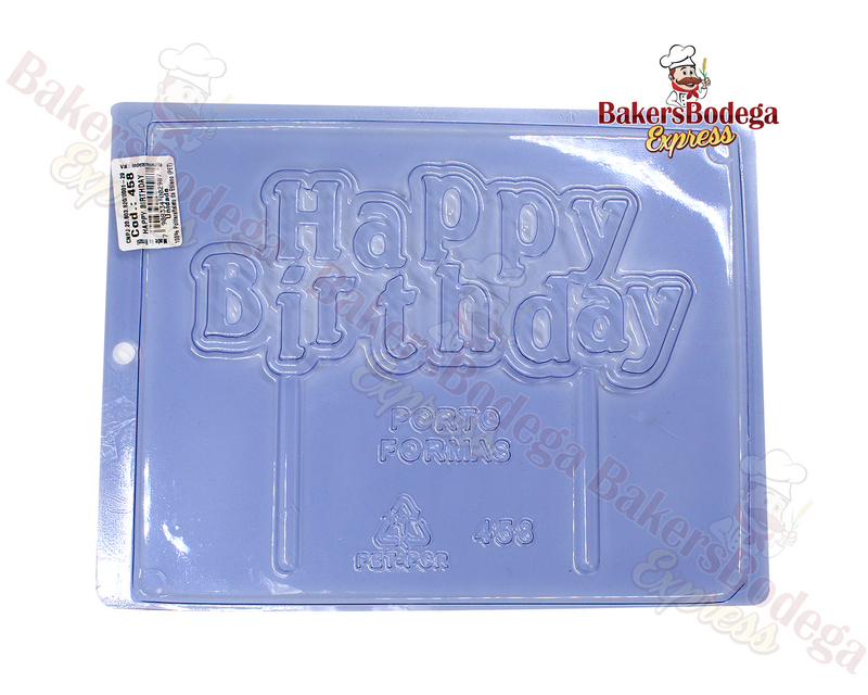 Happy Birthday Chocolate Mold
