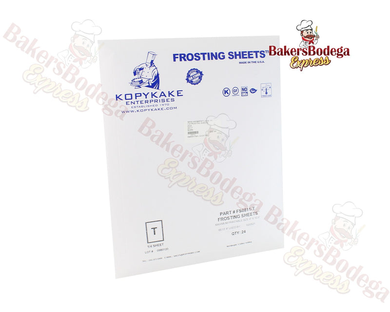 Frosting Sheets- 1/4 Sheet