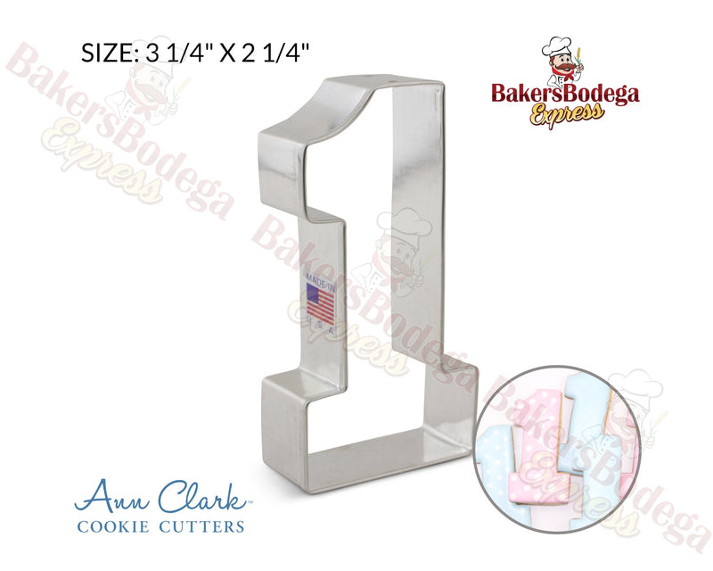 Number 1 Large Cookie Cutter